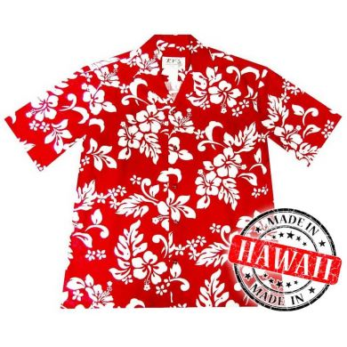 "Hawaii Shirt ""Hawaii Bloemen Rood"""