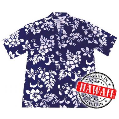 "Hawaii Shirt ""Hawaii Bloemen Blauw"""