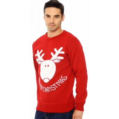 Rudolf says ''Merry Christmas'' Rood | Mannen